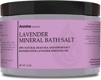 Lavender Mineral Bath Salt, 12oz