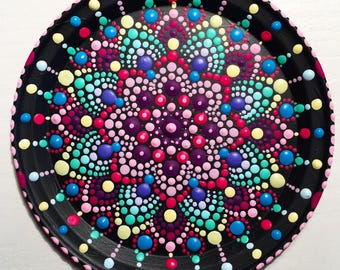 Mandala Plate handpainted