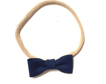 Itty Bitty Headband    Navy