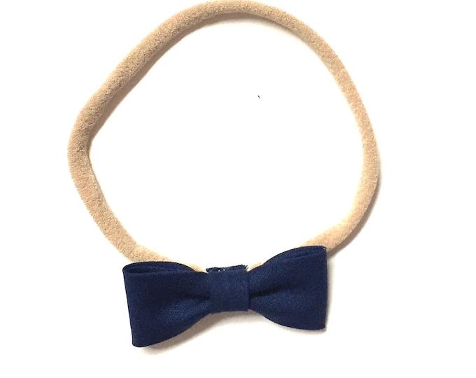 Itty Bitty Headband || Navy