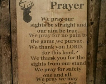 A Hunter's Prayer Coat / Hat Rack. Perfect for Father's Day, Birthdays, Little Ones Room Decor too!!