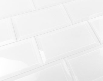 Peel and Stick White Tiles Kitchen Tiles BackSplash TIles  3x6 14sq feet PER BOX sample available