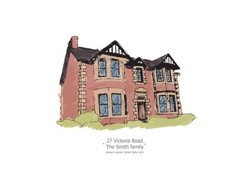 Personalised Home Illustration