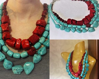 Necklace with corals.