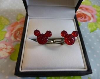 Mickey Mouse Ears Bling Cufflinks Cuff links Disney Wedding Theme Groom Groomsmen Gift
