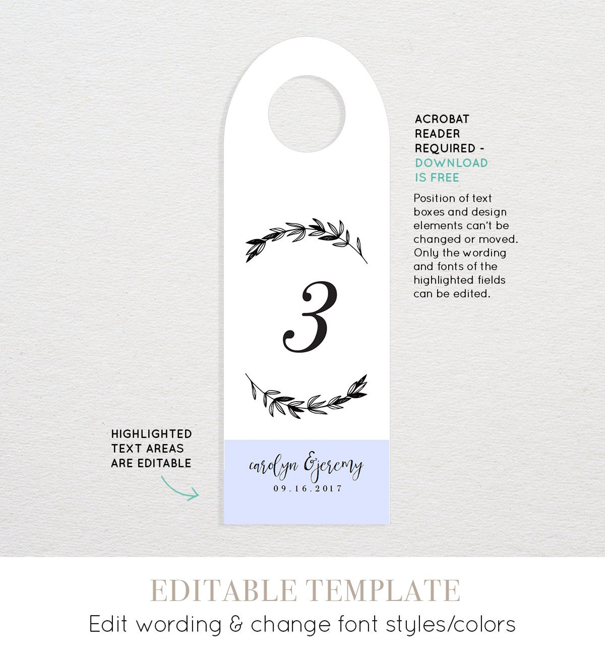 Printable Table Number Template for Wine Bottle Wedding Wine Tag – Wine Tag Template