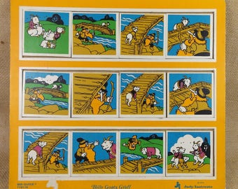 Vintage Children's Puzzle Billy Goats Gruff See-Quees Judy Instructo 1974