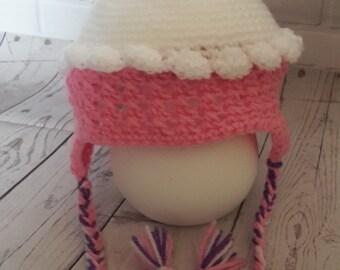 Handmade crochet baby child cupcake hat fun photo prop
