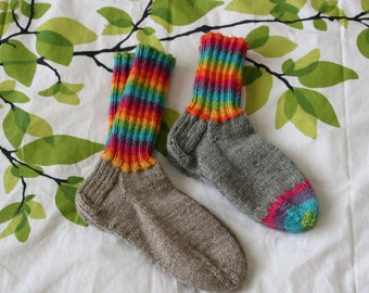 Rainbow wool socks