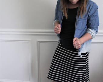 Striped Skirt / Two Color Options /