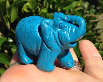 Hand carved Turquoise Elephant