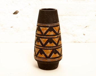 East German Vintage Vase by VEB Strehla Handpainted Form 1121