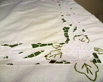 Cotton tablecloth vintage/vintage cotton Tablecloth