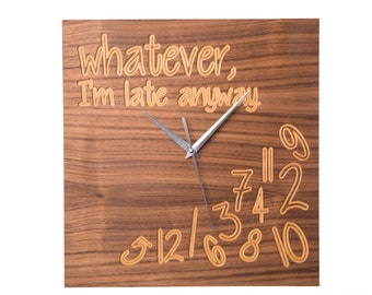 Modern Wooden Walnut Wall Clock