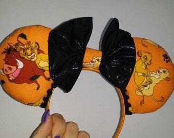 Lion King Ears, Lion King, Simba, Timon, Pumba, Mickey Ears, Minnie Ears, Mickey Mouse, Minnie Mouse, Disney themed Ears, Animal Kingdom