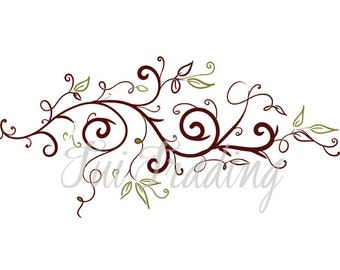 Flourish SVG, Swirl Lines, Ornamental Borders, Scalabe Vector Graphics, Leaves PDF and JPG Files