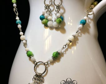 Retro Pop Necklace and Earrings