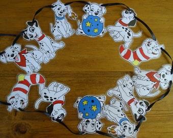 Disney 101 Dalmations style bunting. Dalmations movie.