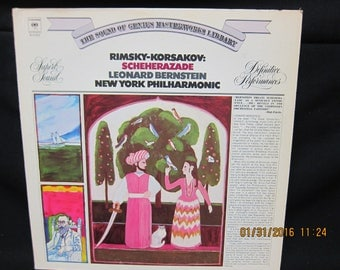 "Leonard Bernstein NY Philharmonic - Rimsky Korsakov ""Sheherazade"" (1973) ====LP"