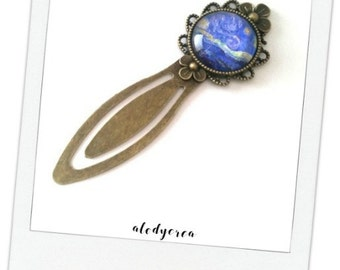 Brand pages Van Gogh - starry night - cabochon glass - bronze