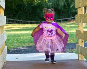 Girl super hero outfit
