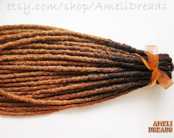 40 SE or DE dreads, transitional dreads, natural style, dreadlocks, synthetic dreads, bicolour dreads.