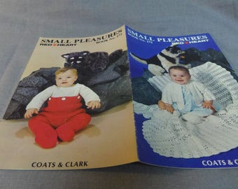 Knit and Crochet Patterns, Baby, Infant fashion and accessories, Small Pleasures Book No. 272 Coats and Clark