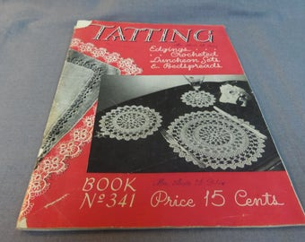 Tatting Crochet Patterns, Edgins, Luncheon Sets and Bedspreads, Canadian Spool Co, 1941