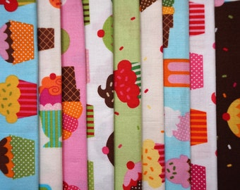 Confections by Robert Kaufman - Fat Quarter Bundle - 9 pieces
