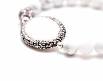 Peace bracelet – White Howlite