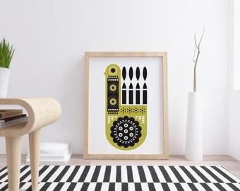 Etsy acheter vendre et vivre handmade - Affiche design scandinave ...
