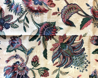 Vintage Waverly Fabric, Century Centennial Collection Floral Fabric, Made in USA, Retro Fabric, Vintage Sewing Supplies, Craft Supplies