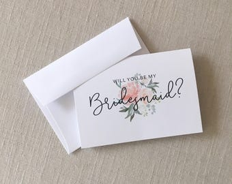 Will You Be My Bridesmaid? Card Set - Bridesmaid Card Set - Bridal Party Cards - Maid of Honor Card - Bridesmaid Gift Cards