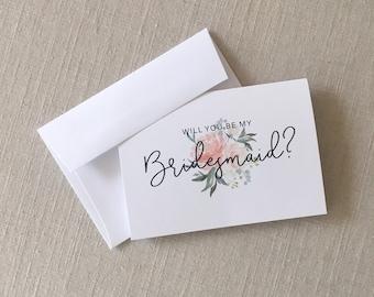Will You Be My Bridesmaid? Card Set - Bridesmaid Card Set - Bridal Party Cards - Maid of Honor Card - Bridesmaid Gift Cards