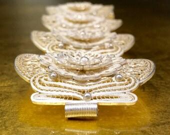 Her Filigree Gift | Her Unique Bracelet | Her Flower Bracelet | Her Floral Bracelet | Floral Gift Bracelet | Her Statement Bracelet