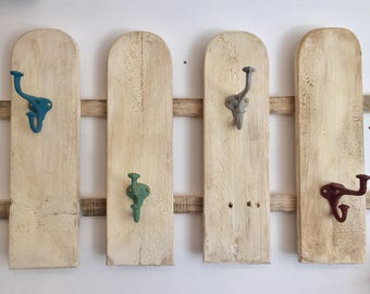 Picket fence style coat rack hanger