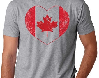 Canada T-Shirt Canada Heart T-Shirt Maple Leaf T-Shirt Canada Day Tee Patriotic T-Shirt