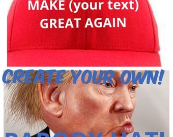 Donald Trump Inspired Red PARODY Hat