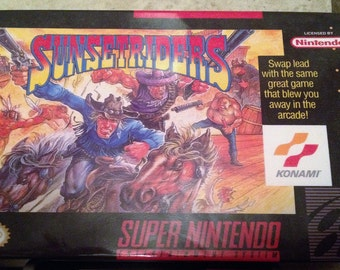 Sunset Riders (Super Nintendo, SNES, 1993) - Custom Reproduction Mini Box
