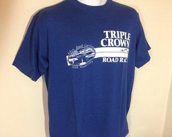 T-Shirt Adult L- TRIPLE CROWN ROAD Race Aiken South Carolina 1985- 150th Anniversary