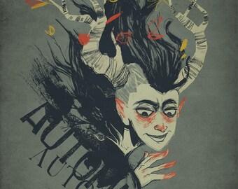 Fall Spirit Art Print - Automne 8.5x11 Digital Print