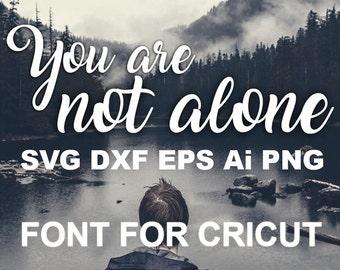 SVG Fonts Full Alphabet Digital fonts Handwritten font Cricut font SVG font Instant download Commercial use Font SVG file Calligraphy font