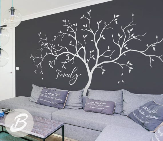 Family Tree Wall Decals Large White Tree Decal Nursery Tree