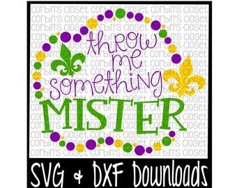 Mardi Gras SVG * Throw Me Something Mister * Mardi Gras * Beads Cut File - SVG& DXF Files - Silhouette, Cricut Users