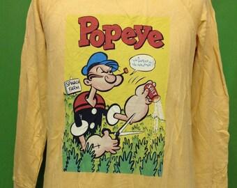 Vintage Popeye Spinach farm I'm Popeye The Sailor man Medium size Sweatshirt