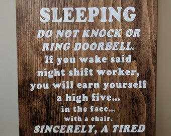 Do Not Ring Doorbell Etsy