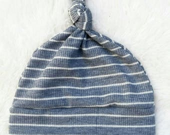 Baby top knot beanie hat