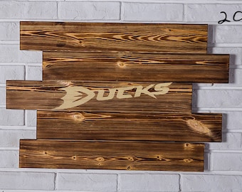 Anaheim Ducks Wood Sign Anaheim Ducks Wall art Anaheim Ducks Gift Anaheim Ducks Birthday Anaheim Ducks Party wooden