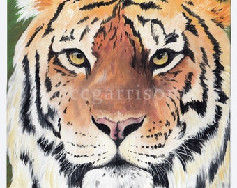 Art Print - Tiger - giclee 8x10 painting