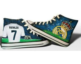 Custom Real Madrid Shoes Ronaldo T-Shirt & Logo